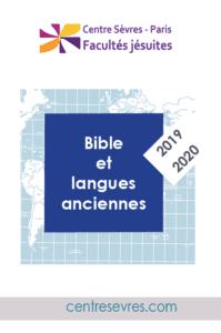 2019-2020 Cours et conférences - Bible et Langues anciennes-centre sevres