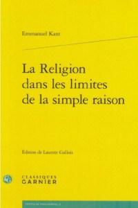 livre Kant La religion dans les limites de la simple raison