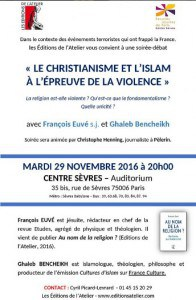Conf 29 NOV 2016 Le christianisme et l'islam