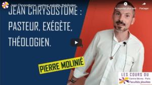 Jean Chrysostome : pasteur, exégète, théologien 2019-2020 centresevres