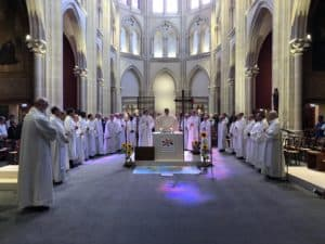 picture of a celebration in St Ignace church